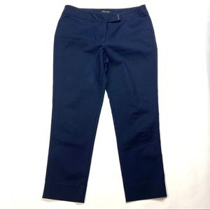 WHBM Perfect Form Slim Ankle Pants Blue 8R